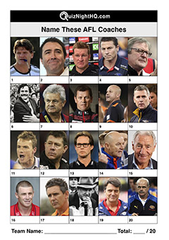 afl coaches trivia picture quiz question round