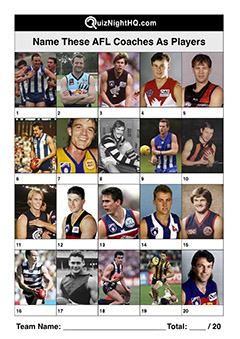 afl coaches players trivia picture quiz question round