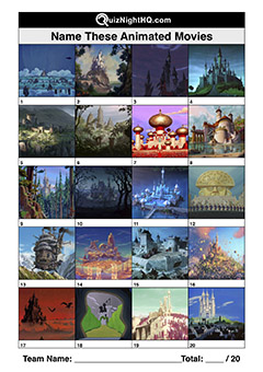cartoon movie castles trivia picture question round