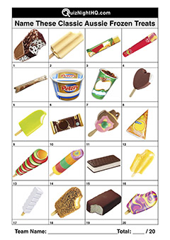 aus ice cream frozen treat picture trivia round