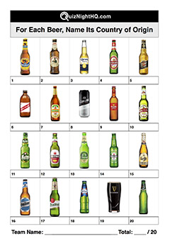 beer world label logo trivia picture round
