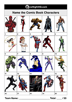 superhero comic book character trivia quiz