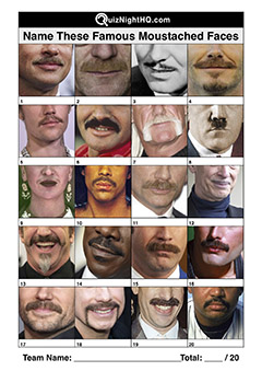 famous faces famous moustaches trivia picture round