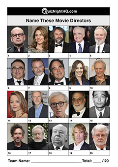 famous faces movie film directors trivia picture round