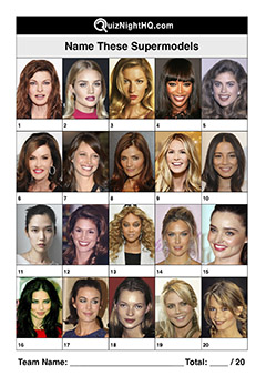 famous faces supermodels trivia picture round