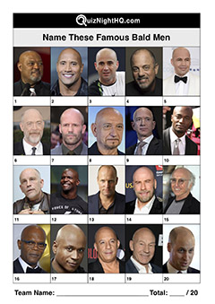 famous bald men trivia picture round