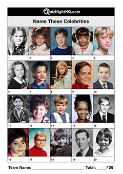 celebrities as kids trivia picture round