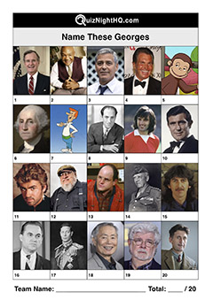 famous faces george celebrity trivia quiz