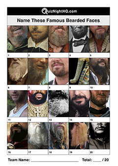 famous faces beards facial hair beasts trivia picture quiz