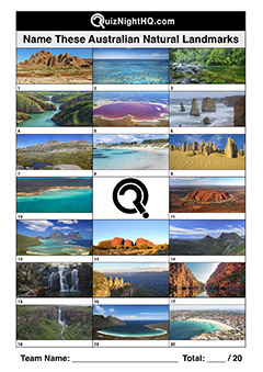 australian landmarks famous places trivia question round