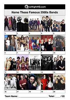 famous musicians bands 2000 naughties artist music trivia picture round