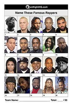 famous rappers music trivia question round