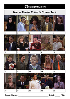 friends characters trivia question round