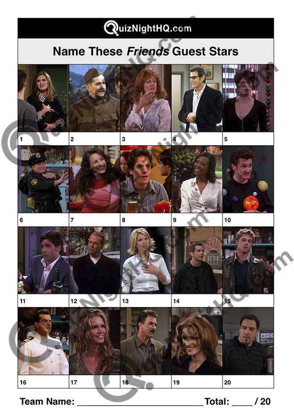 friends celebrity guest stars trivia question round