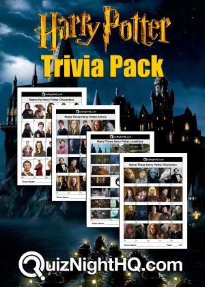 harry potter trivia package quiz night