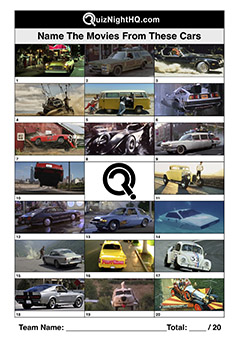 trivia picture round movie cars