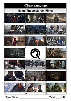 marvel movie screenshots picture trivia round
