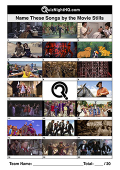 film screenshots trivia picture round musical song