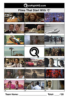 films movies starting with c trivia picture quiz