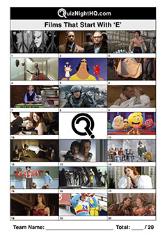 films movies starting with e trivia picture quiz