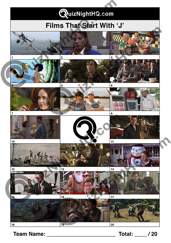 movie screenshot trivia films starting with j quiz