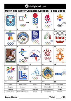 winter olympic games logos trivia quiz