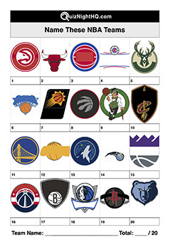 nba basketball team logos trivia picture round