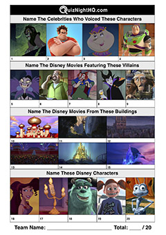 disney character villain movie trivia picture round