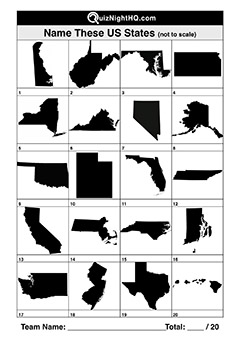 usa state shape map picture trivia round